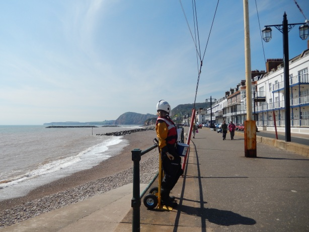'Alma' collecting money on the Esplanade, Sidmouth