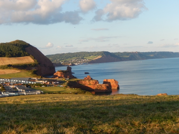 Ladram Bay, Sidmouth - site of Ladram Heights New Town in Revenge Ritual