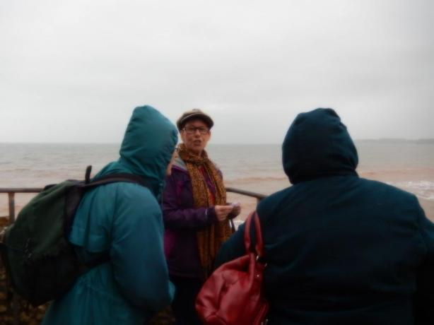 But the ramble round the settings from the book was rained off!